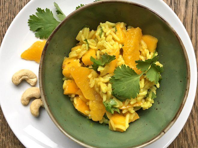 Ayurveda Rezept: Leckerer Reissalat mit Mango und Orangen | Ayurveda Parkschlösschen Health Blog