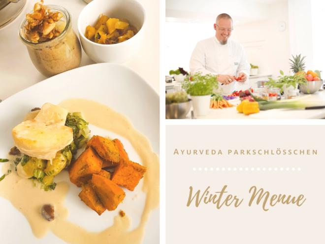 Ayurevda Parkschlösschen Winter Menue by Head chef Sascha Weber | Ayurevda Parkschlösschen Health Blog